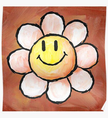 Yoshi's Island Flower Poster