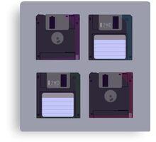 Floppies (Light) Canvas Print