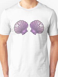 Mermaid Shells Lilac Sparkles Unisex T-Shirt
