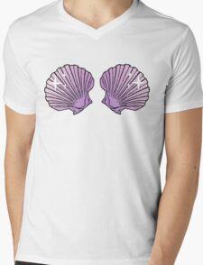 Mermaid Shells Lilac Sparkles Mens V-Neck T-Shirt