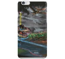 Boris the Penguin vs a T-Rex iPhone Case/Skin