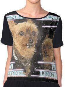 "The new ELITE ""I'm Length"" apparel (by popular demand) Chiffon Top"