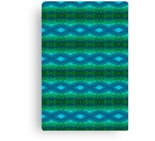 Blue-Green Watercolor Pattern Canvas Print