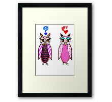 Owls love or what? Framed Print