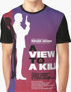A View to a Kill - Movie Poster Graphic T-Shirt