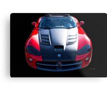 Dodge Viper Roadster 'Bonnet' Metal Print