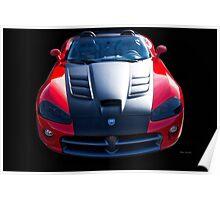 Dodge Viper Roadster 'Bonnet' Poster
