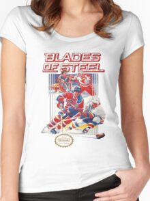 NES Blades of Steel  Women's Fitted Scoop T-Shirt