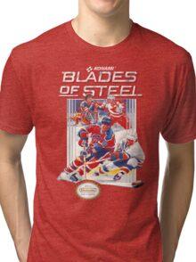 NES Blades of Steel  Tri-blend T-Shirt