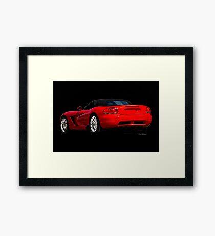 Dodge Viper 'Red Tail' Roadster Framed Print