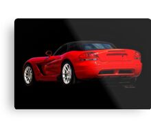 Dodge Viper 'Red Tail' Roadster Metal Print