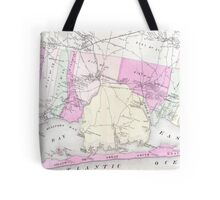 Vintage Brookhaven and Fire Island NY Map (1873) Tote Bag