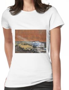 SMOKING BUICK Womens Fitted T-Shirt