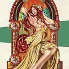 Autumn - Art Nouveau by Jill Sanders