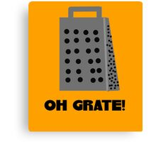 Oh, Grate Canvas Print