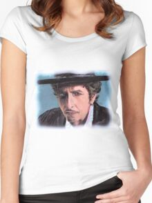 BOB DYLAN PORTRAIT Women's Fitted Scoop T-Shirt