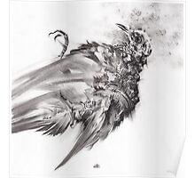 senescence 9 - charcoal drawing Poster