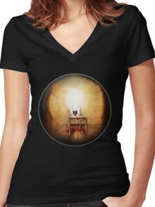 The Seat of Big Ideas Women's Fitted V-Neck T-Shirt