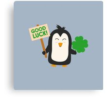 Good Luck Penguin Canvas Print