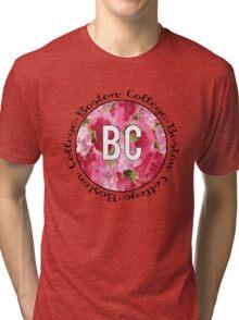 Boston College Floral Watercolor Tri-blend T-Shirt