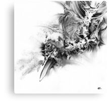senescence 10 - charcoal drawing Canvas Print