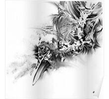 senescence 10 - charcoal drawing Poster