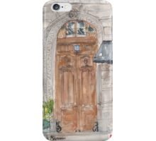 Paris door iPhone Case/Skin