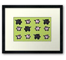Legend of Zelda Pigs Framed Print