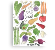 Eat More Veggies Canvas Print