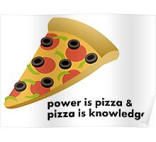 Pizza is power Poster
