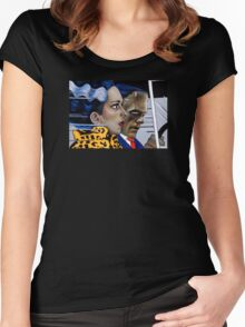 Frankenstein & His Bride In The Car Women's Fitted Scoop T-Shirt