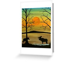 Meeting of the moose Greeting Card
