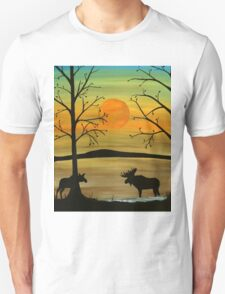 Meeting of the moose Unisex T-Shirt