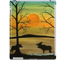Meeting of the moose iPad Case/Skin