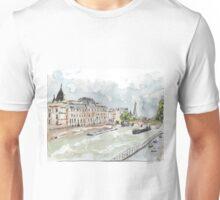 Paris Seine with Eiffel Tower Unisex T-Shirt