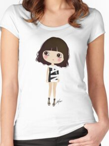 She's not sexy, she has attitude! Women's Fitted Scoop T-Shirt