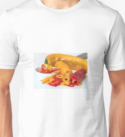 Red and yellow chillies Unisex T-Shirt