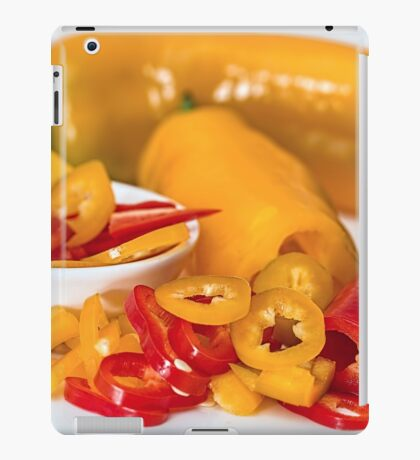 Red and yellow chillies iPad Case/Skin