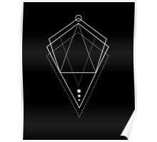 Hologram geometry black Poster