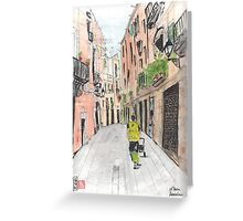 Barcelona - El Born Neighborhood Greeting Card