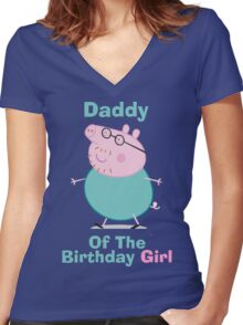 Daddy (HBD) girl Women's Fitted V-Neck T-Shirt