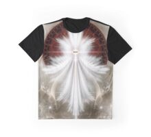 Angel Wings Snowflake Graphic T-Shirt