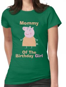 Mommy (HBD) girl Womens Fitted T-Shirt