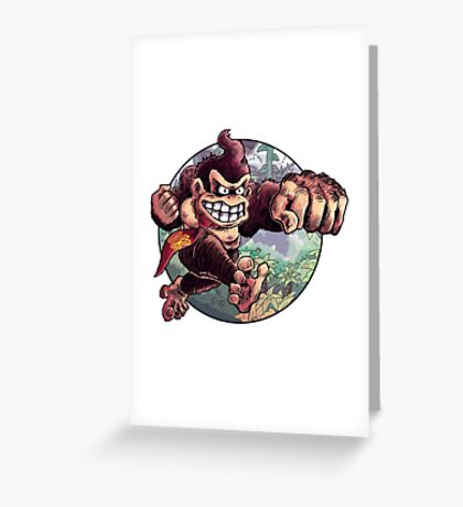 Donkey Kong is Here! Greeting Card