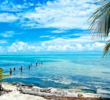 Secluded Beach on Caye Caulker Belize by lifetravelphoto