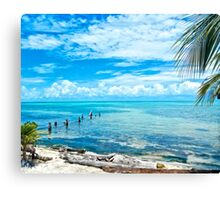 Secluded Beach on Caye Caulker Belize Canvas Print