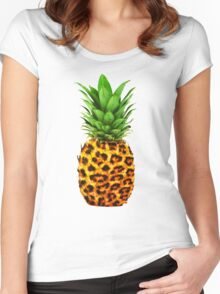 Cheetah Pineapple Women's Fitted Scoop T-Shirt