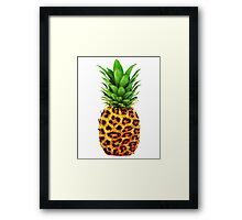 Cheetah Pineapple Framed Print
