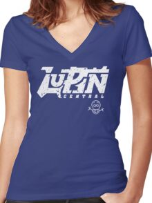 Lupin Central - Vintage Seal Women's Fitted V-Neck T-Shirt