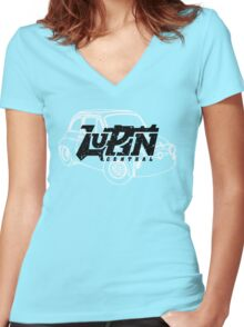 Lupin Central - Fiat 500 Women's Fitted V-Neck T-Shirt